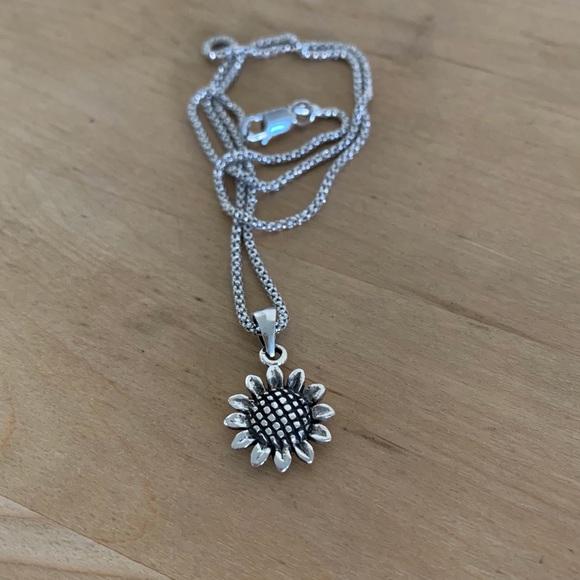 Jewelry Sterling Silver Sunflower Necklace Poshmark
